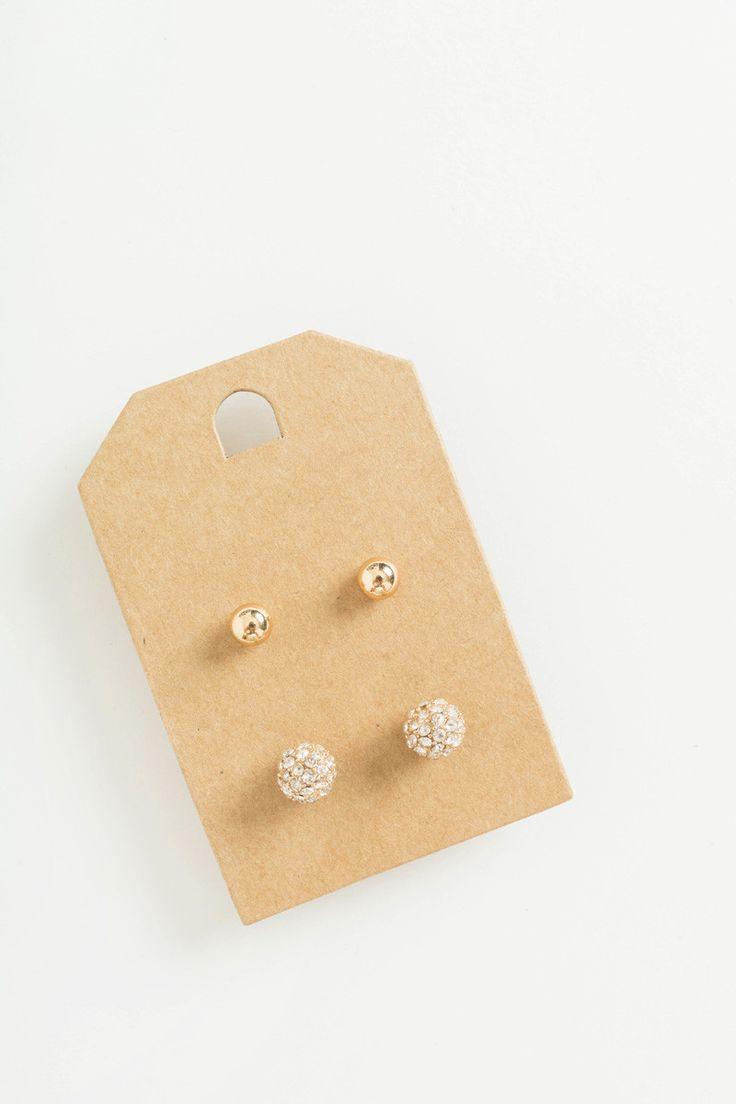 Annette Gold And Diamond Stud Earring Set