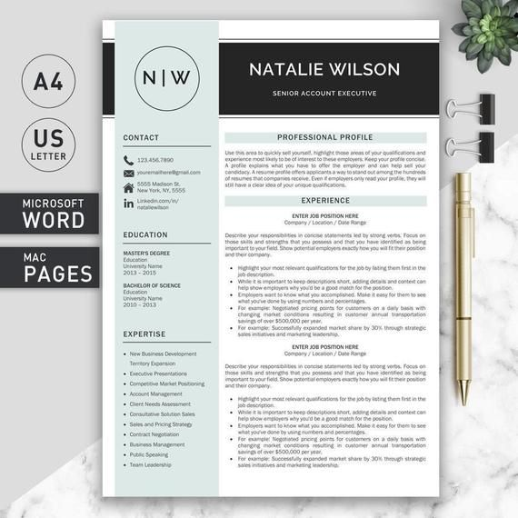 Professional And Modern Resume Template For Word And Pages Cv Template For Word Creative Resume Template Professional Cv Template Modern Resume Template Creative Resume Templates Resume Template