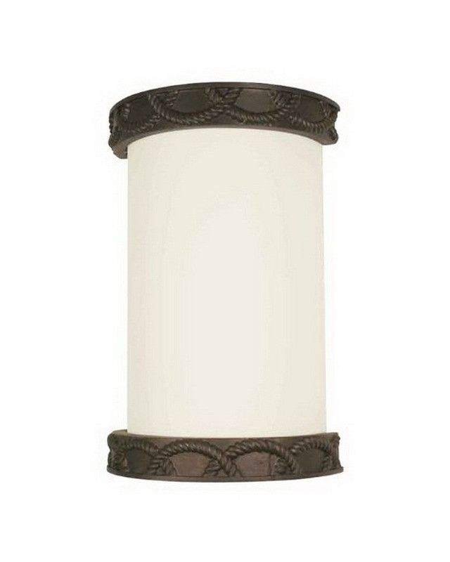 lighting e830123 one light energy efficient wall sconce in burnished bronze finish