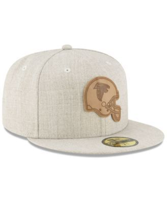 New Era Atlanta Falcons Heathered Helmet 59FIFTY Fitted Cap - Tan/Beige 7 1/2