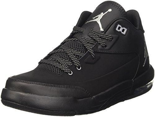 Nike Jordan Men's Jordan Flight Origin 3 Black/Metallic Silver/Black/Black  Basketball