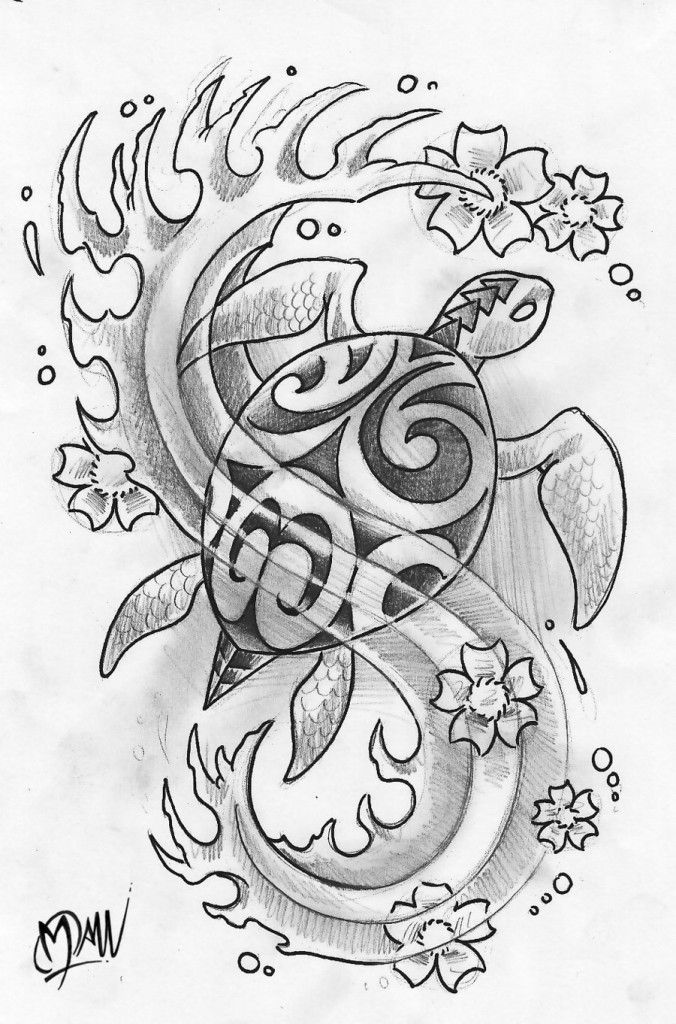polynesian turtle by manumanutattoo d344j9g 676x1024 The Meaning Behind Turtle Tattoo Designs