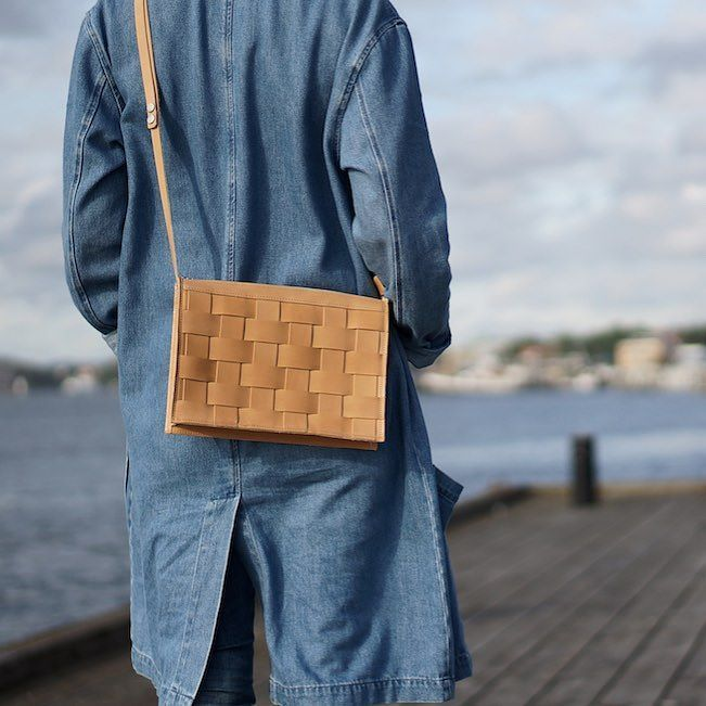 Take your favorite bag for a walk today!  This bag is handmade out of vegetable tanned leather from the Swedish brand Eduards Accessories