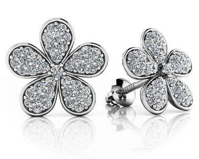 14k Gold Diamond Flower S... - J. Ryan Fine Jewelry   Scott's Marketplace
