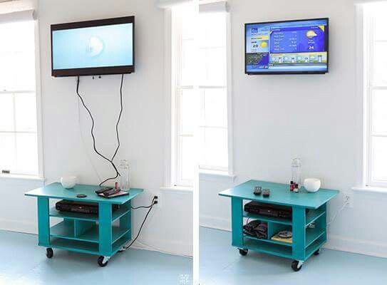 How to hide chords on wall mounted tv tutorial attached i hope organization pinterest - How to hide cords on wall ...