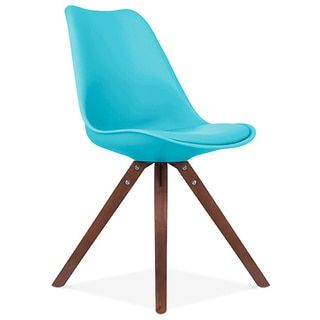 Shop for Viborg Mid Century Baby Blue Side Chair Walnut Base (Set of 2). Get free shipping at Overstock.com - Your Online Furniture Outlet Store! Get 5% in rewards with Club O!