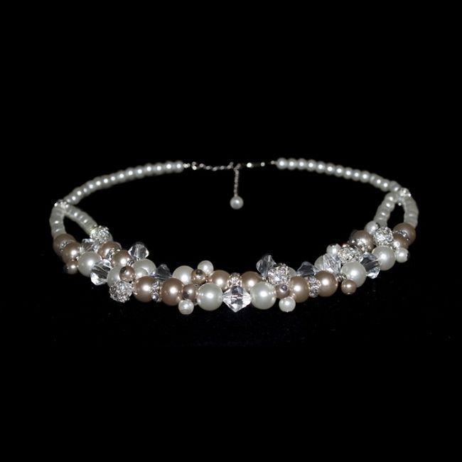Bridal necklace Made by CyberCiska Bruidsketting trouwketting #wedding #jewelry #trouwen #sieraden