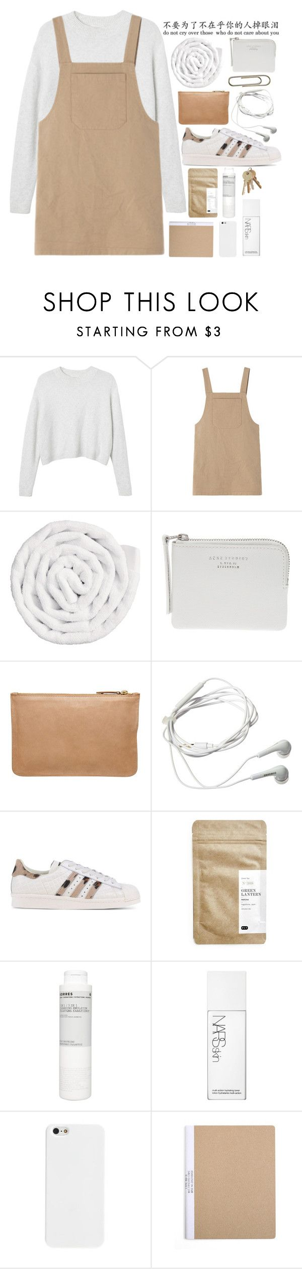 """""""Inspired - Poppy Deyes"""" by mia-lydia-lowe ❤ liked on Polyvore featuring Monki, VIPP, Acne Studios, Witchery, Samsung, adidas Originals, Paper & Tea, Korres and NARS Cosmetics"""