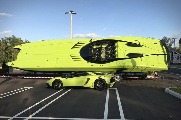 Lamborghini SV Roadster + Super Veloce Boat