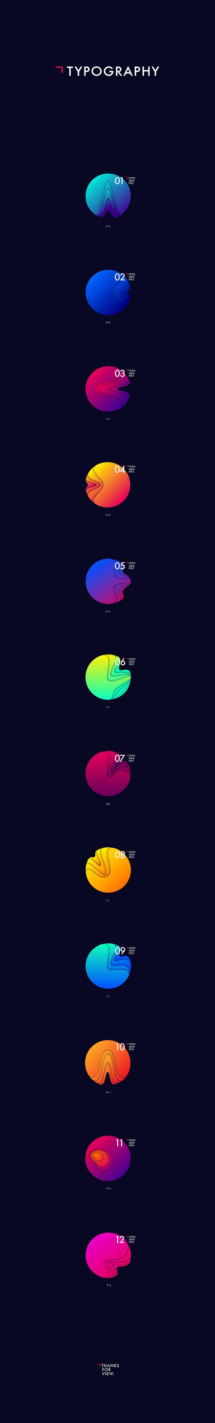 Planet typography on Behance