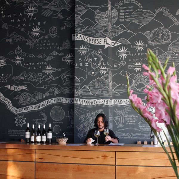 The Valley Project Tasting Room - In this quaint tasting room, you can trywines from each of the 5 surroundingAVAs (American Viticultural Areas, or wine-growing regions) along the Urban Wine Trail. While you're there, take a look at the infamous hand-drawn chalk map of Santa Barbara County—perfect for a photo op.