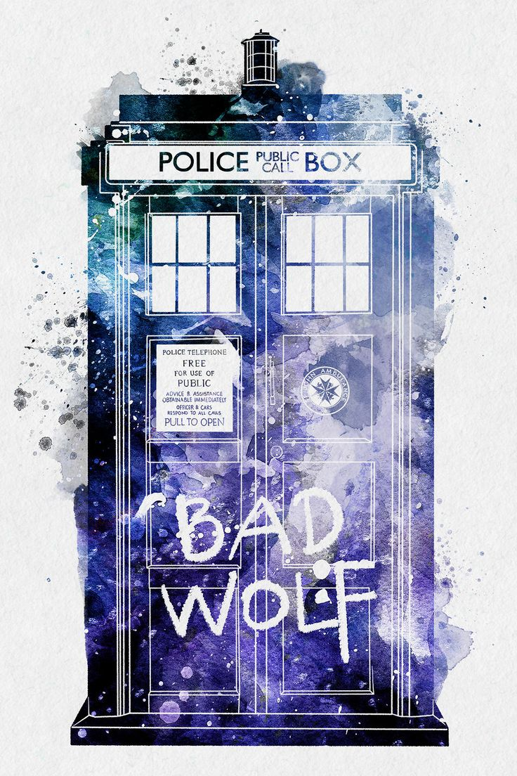 Doctor Who Tardis by PenelopeLovePrints - Digital watercolor artworks that are playful yet detailed.