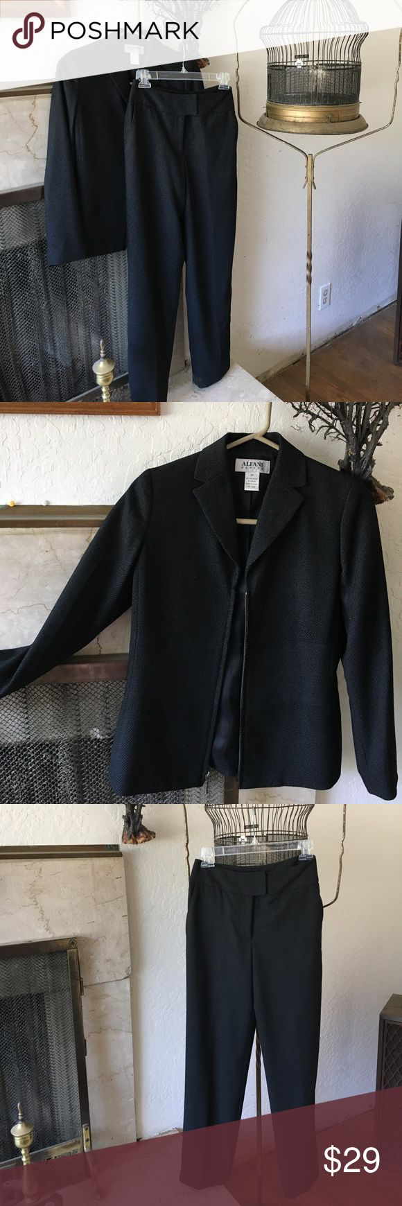 """Vintage ALFANI Petite Suit ALFANI Petite vintage suit w/ zipper blazer. Size 2, from top of pant band to bottom of cuff 38"""". Both blazer & pant lined. In very good condition. Alfani Other"""