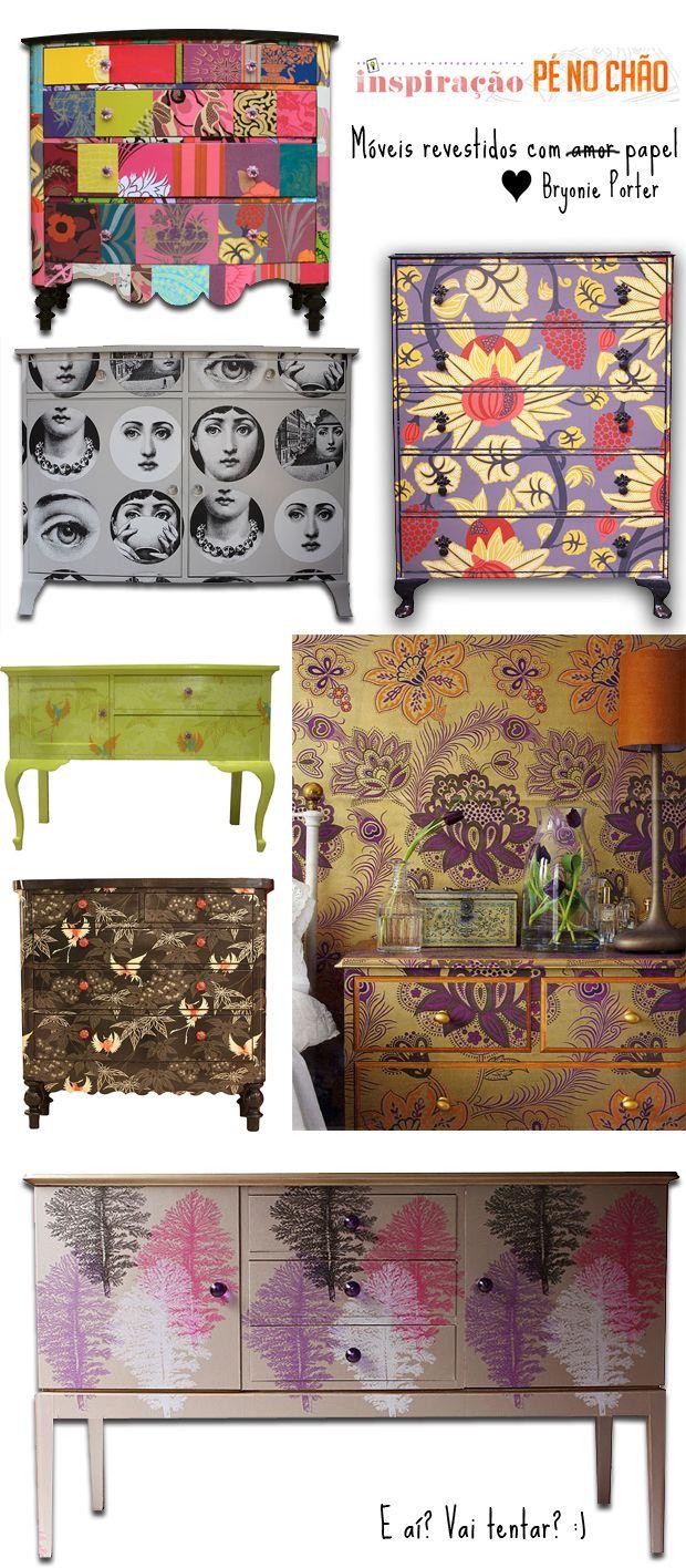 Casa de Colorir: Inspiração pé no chão - móveis embalados