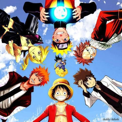 Naruto, Fairy Tail, Hitman Reborn, One Piece, Bleach ...