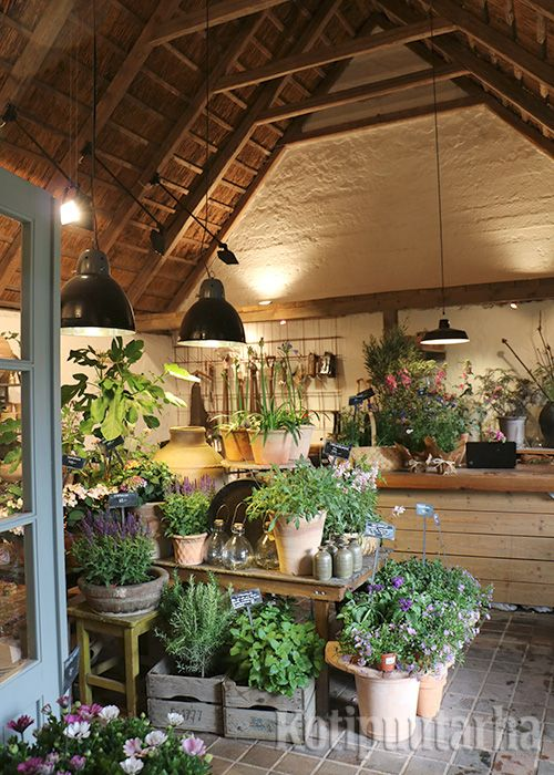 Sofiero, Helsingborg, Ruotsi. Suloinen pieni puutarhamyymälä!