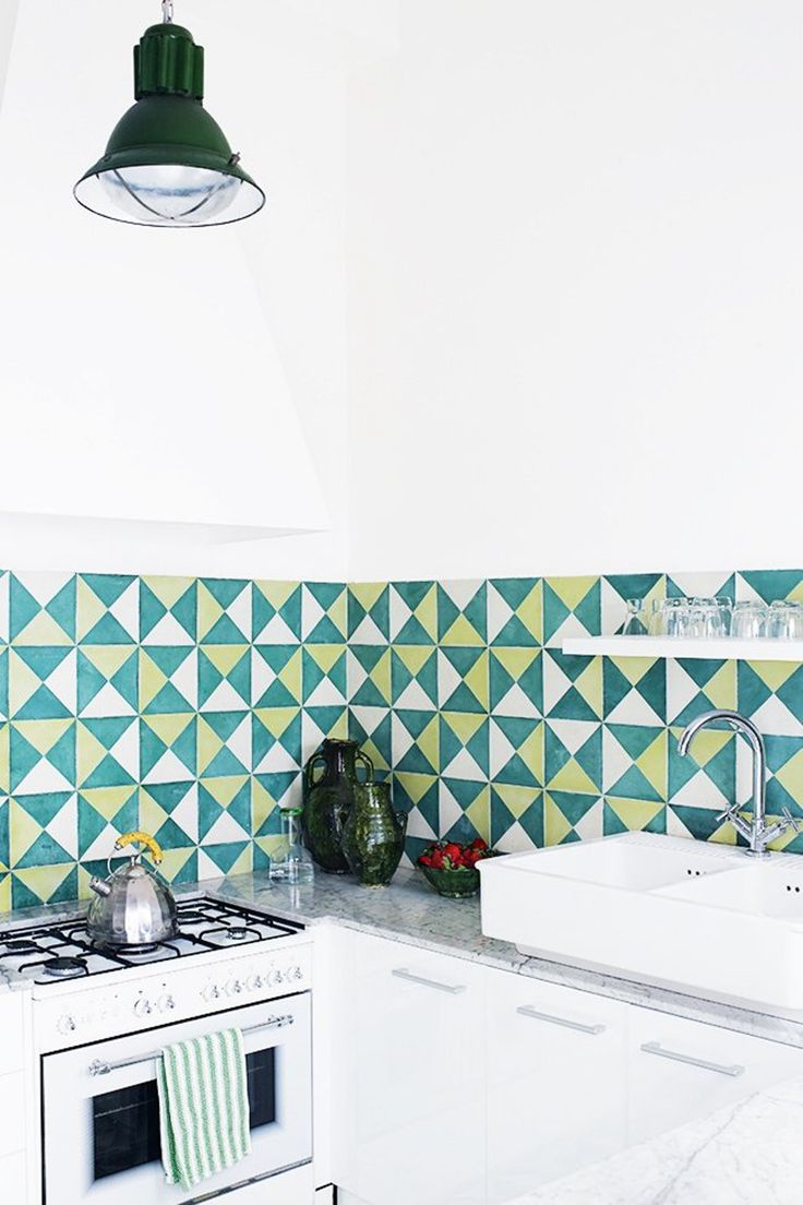 66 best triangle tile inspiration images on pinterest tile kitchen inspiration 10 tile backsplashes that totally steal the show dailygadgetfo Image collections