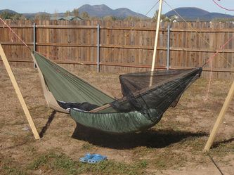 Arrowhead Equipment HUG Half Bug Net - - The HUG is the ultimate in simplicity for hammock bug nets: super compact and lighter than anything else available on the market, weighing only 5 ounces and packing down to the size of an orange.