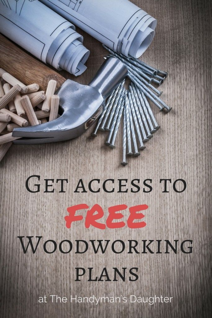 Looking for woodworking plans? Sign up to get access to a library of free woodworking plans found only at The Handyman's Daughter!