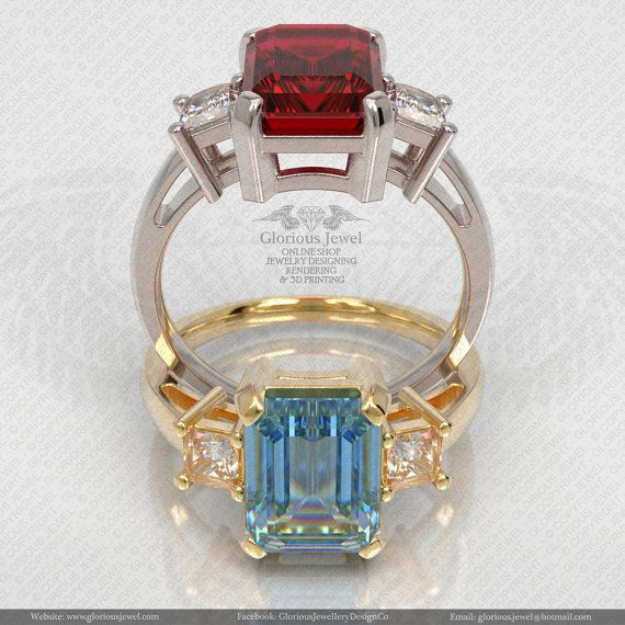 Glorious Ring with CZ stone / 925 silver/ by GloriousJewelOnline