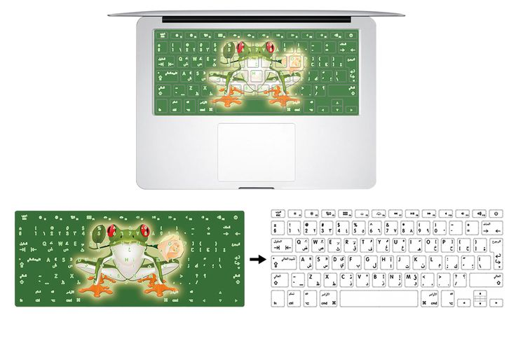 HRH Customized Arabic Letter Rubber Keyboard Cover Keypad Skin Protector for Macbook Air Pro Retina 13 15 17 US Layout Drop-ship