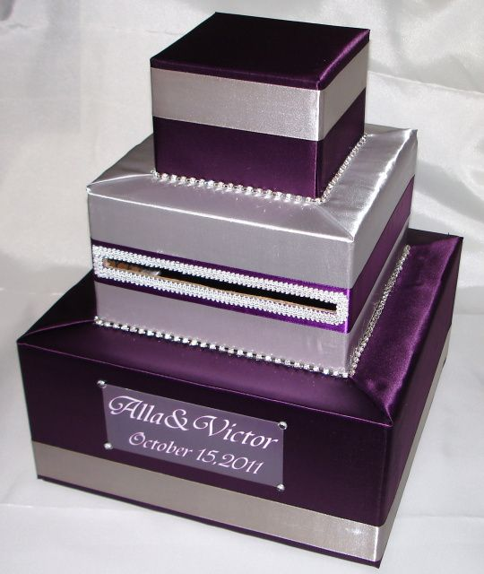 17 Best images about WEDDING CARD BOX AND GIFT HOLDER on – Purple Wedding Card Box