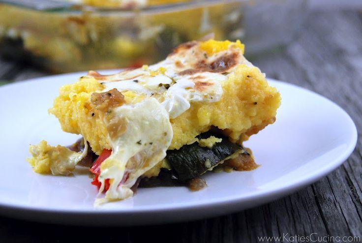 Polenta & Roasted Vegetable Pie - Katie's Cucina | Katie's Cucina