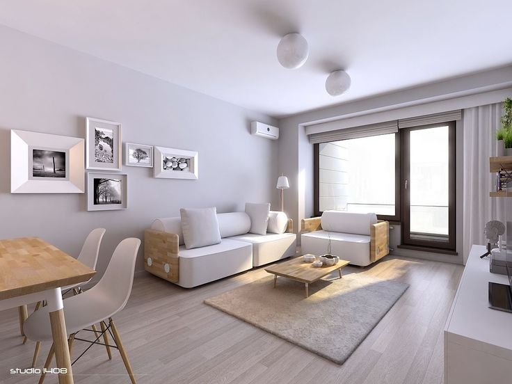 Small Decorating Studio Apartment New York Apartments Master Open White Living Room With Awsome Sofa Plus Wooden Table Comfort Wool Rug Combined