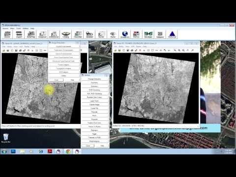 Change detection in ERDAS