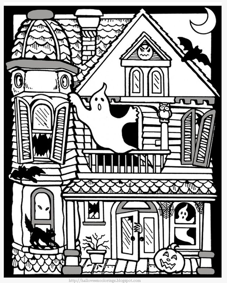 Best Halloween Coloring Pages Images On Pinterest  Colouring