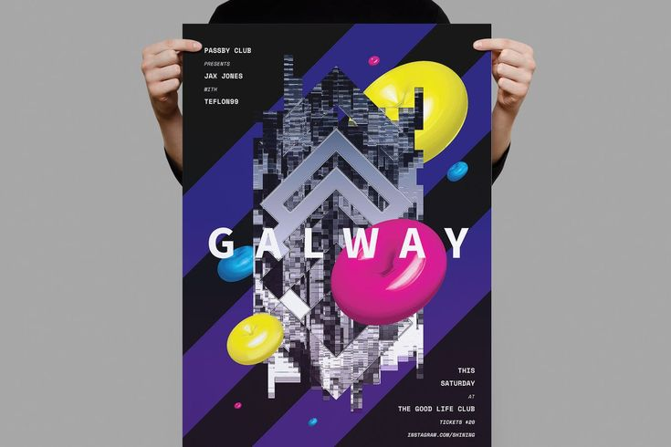Galway Poster / Flyer Template PSD - A3