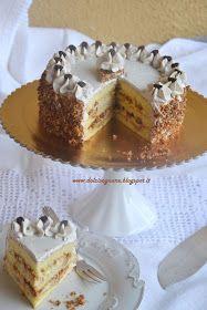Torta croccante con crema al cioccolato bianco e caffé