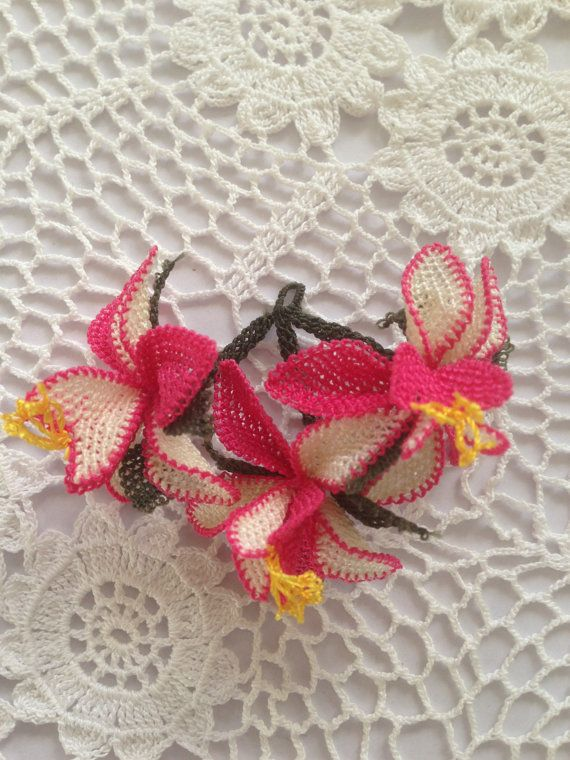 Turkish Oya Lace Bouquet of Flowers by AnatolianCollections, $17.50