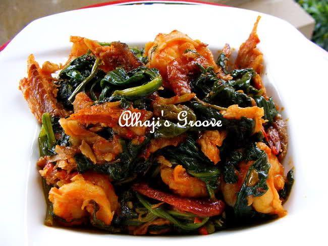 Efo Riro - classic Nigerian (Yoruba) food.