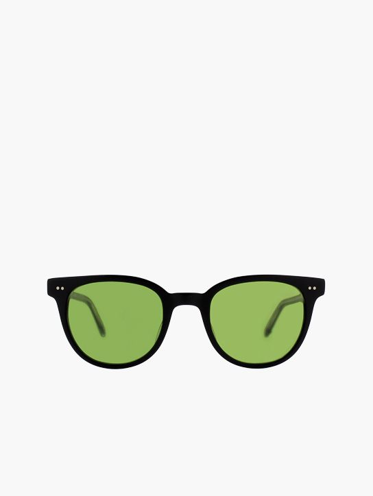 Garrett Leight Angelus Sun in Matte Black/Pure Green #GLCO #sunglass #eyewear