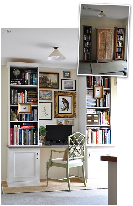 Amazing Home office makeover!  LOVE it!