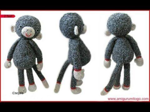 Crochet Large Monkey - YouTube