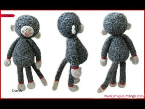 Crochet Large Monkey - YouTube