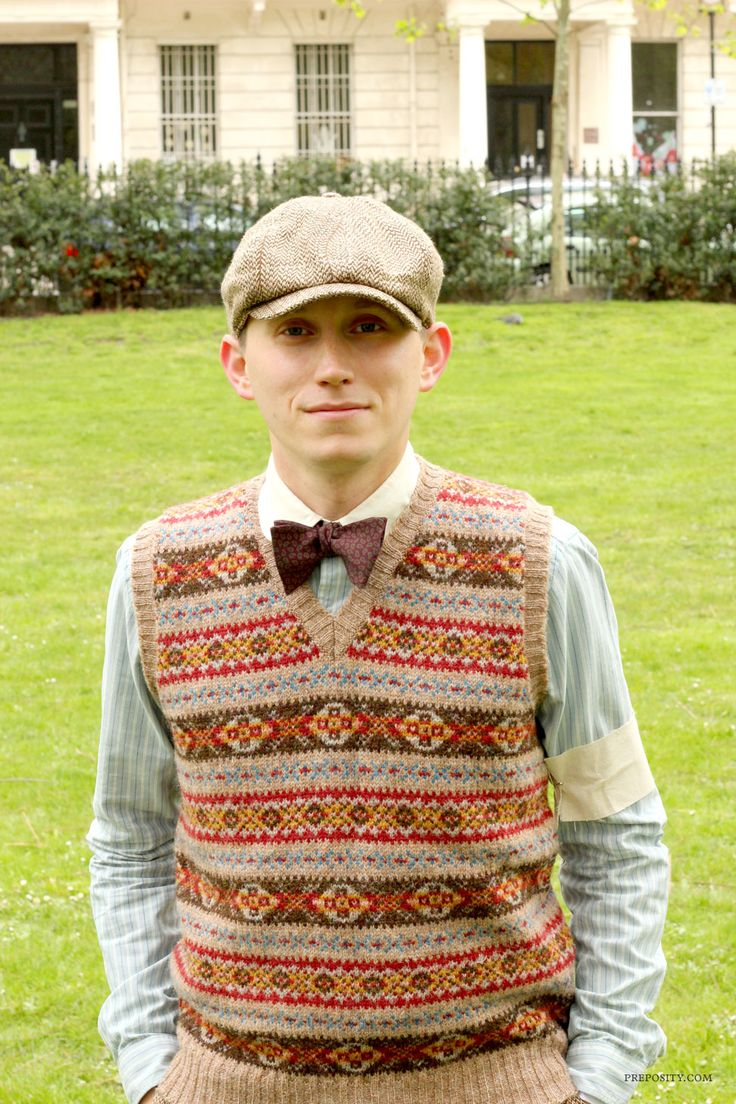 fair isle vest waistcoat