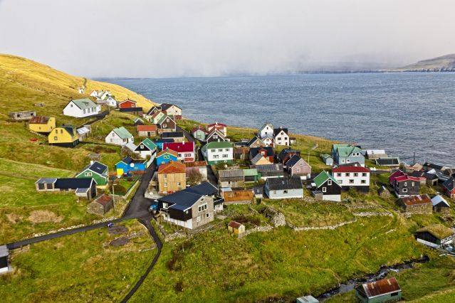 Faroe Islands  - Village sur l île de Skuvoy - Iles Féroé