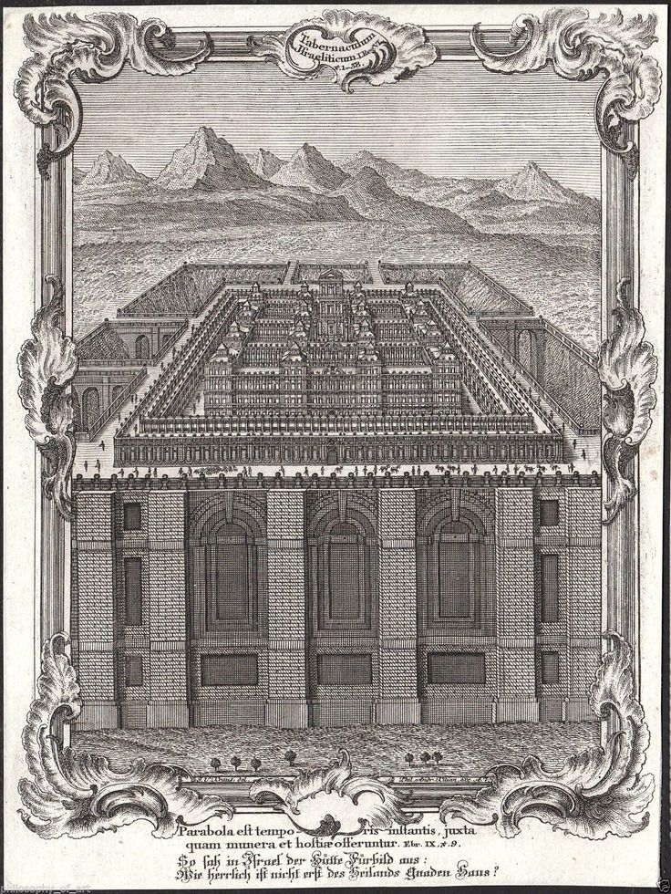 Temple in Jerusalem Bible Rococo 18th Century Engraving | eBay