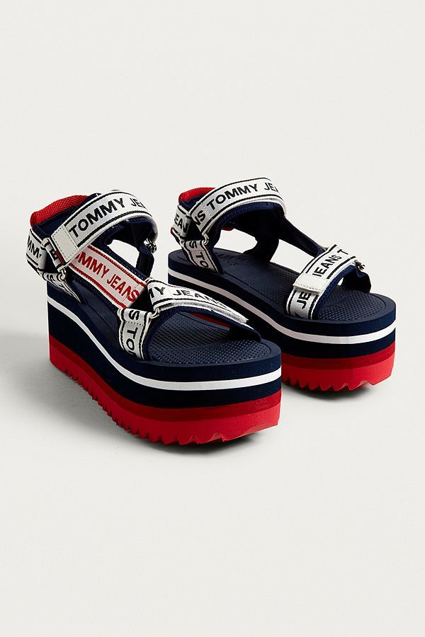 91b1a2c3c77 Slide View  3  Tommy Jeans Technical Navy Platform Sandals
