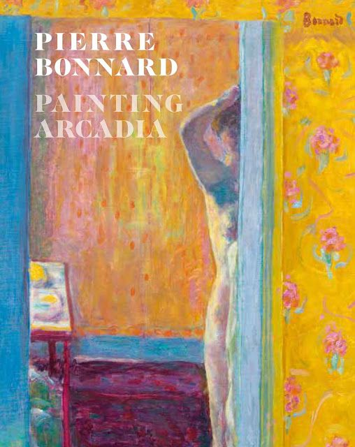 Pierre Bonnard. His saffron-hued and fuzzily intimate interior scenes invite us into his world, to dine, to linger in soft focus, to dream in eternal sunshine, to chat, to meet the family and their sleeping cat, and to chat with his somnolent his models.
