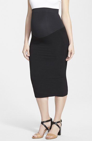 Ingrid & Isabel® Midi Maternity Skirt available at #Nordstrom