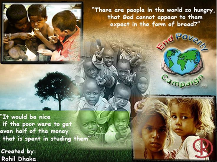 """RD CREATIONS: """" End Poverty """""""