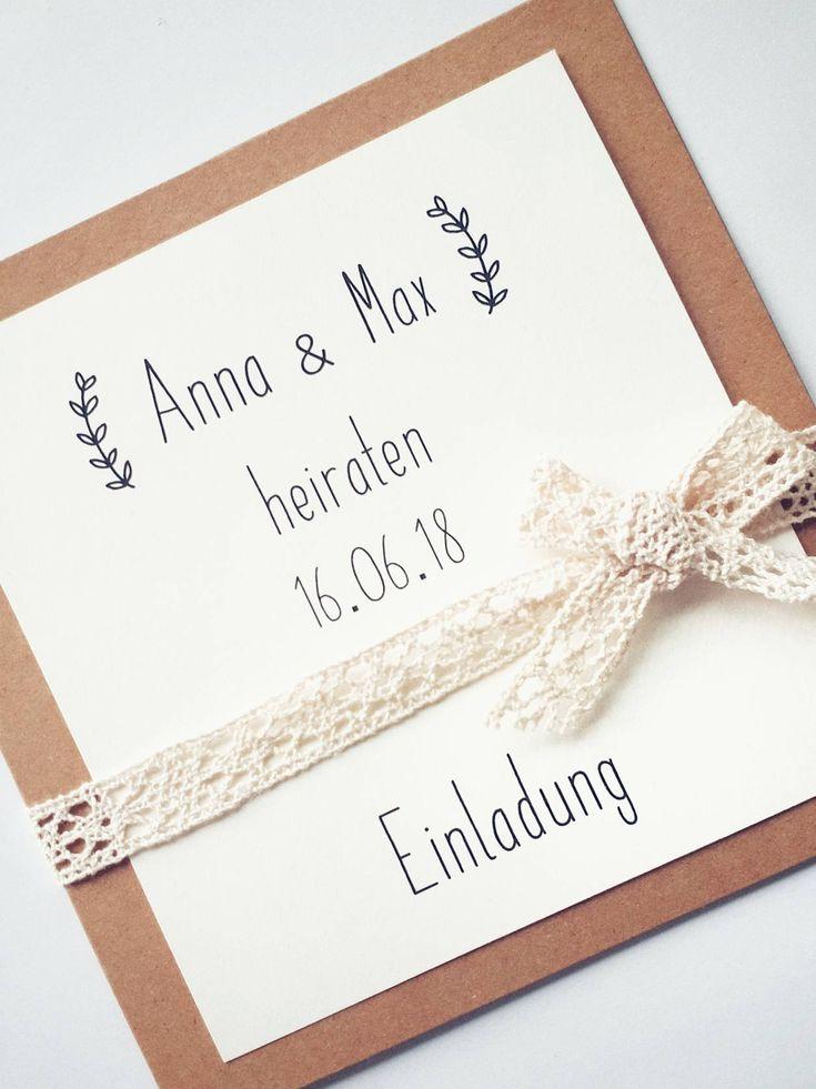 Firth Hochzeit – Einladungskarten