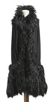 Black Chiffon Cape / By Coco Channel / circa 1920S