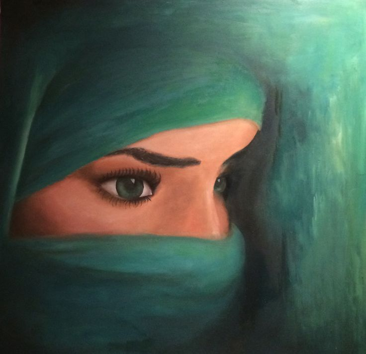 Oil painting on panel 50x50