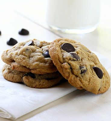 Recipe For Baking with Coconut Oil - Dark Chocolate Chip Cookies - Until now, I've been completely devoted to butter. The more I experiment with coconut oil, the more impressed I am. Great, healthier ingredient cookie.