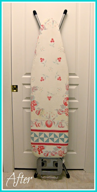 Cuuute idea!  Upcycled Ironing Board Cover Made from a Vintage Tablecloth - T. in the Burg
